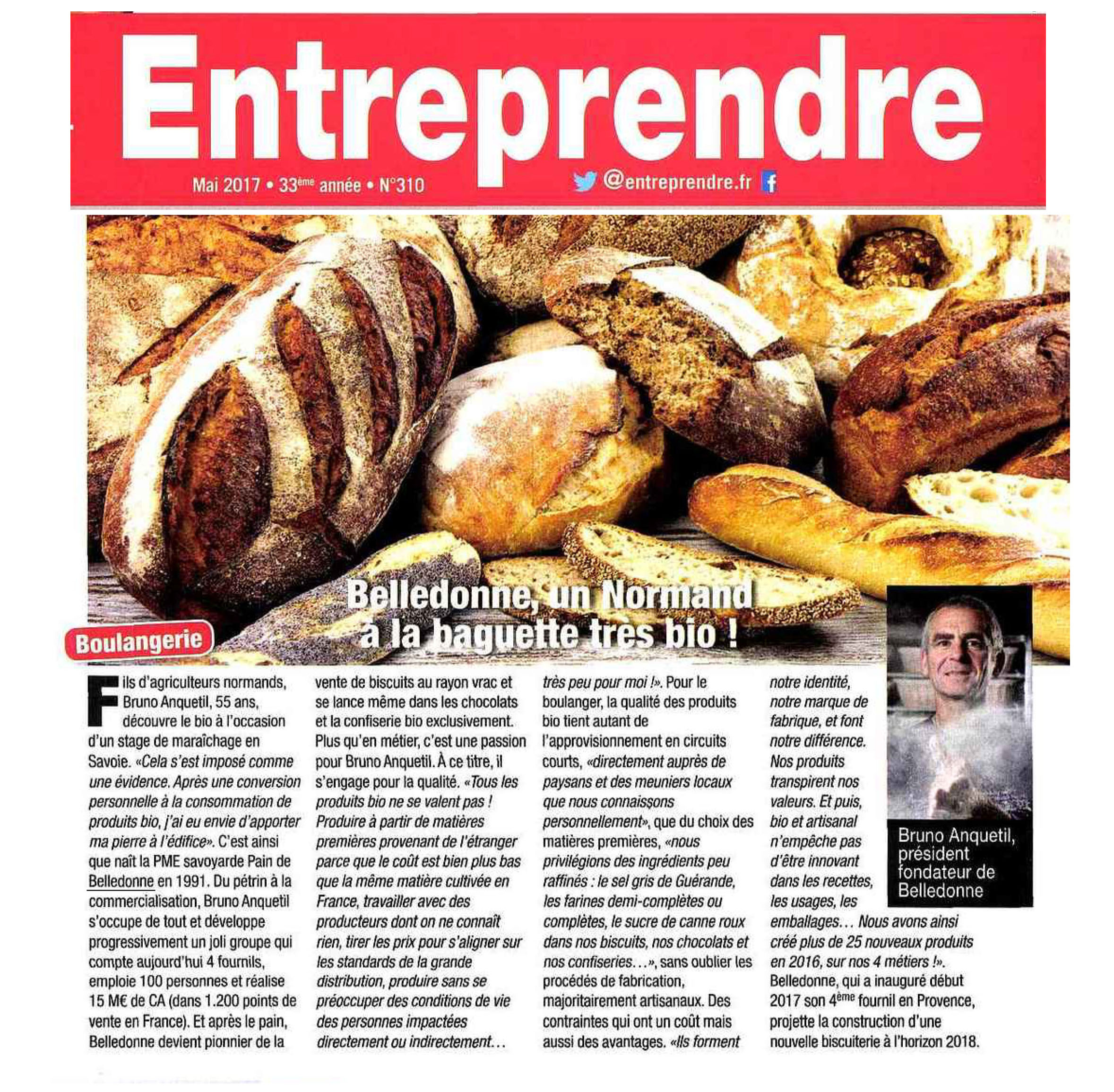 Article Entreprendre