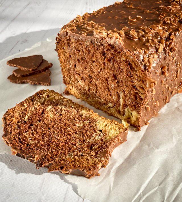 Cake Vanille Chocolat @greenandpositive