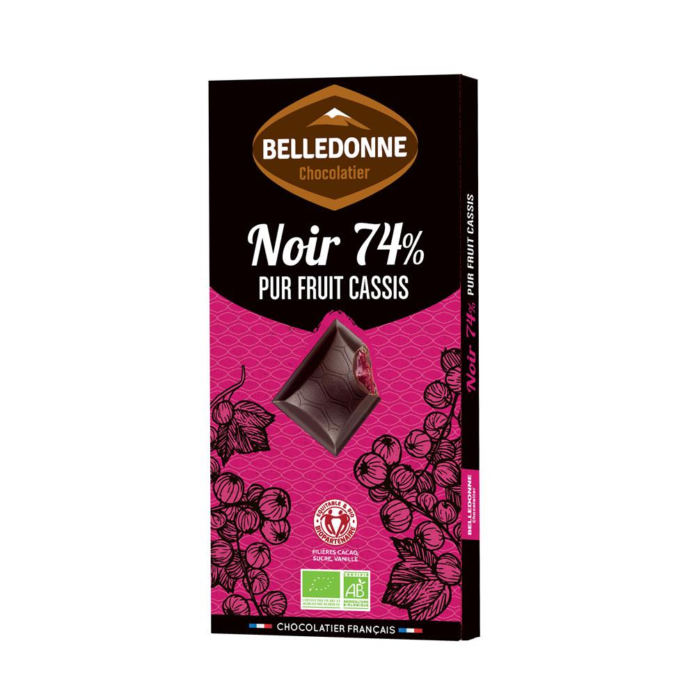Produit 6185141 Tablette Noir 74 Pur Fruit Cassis