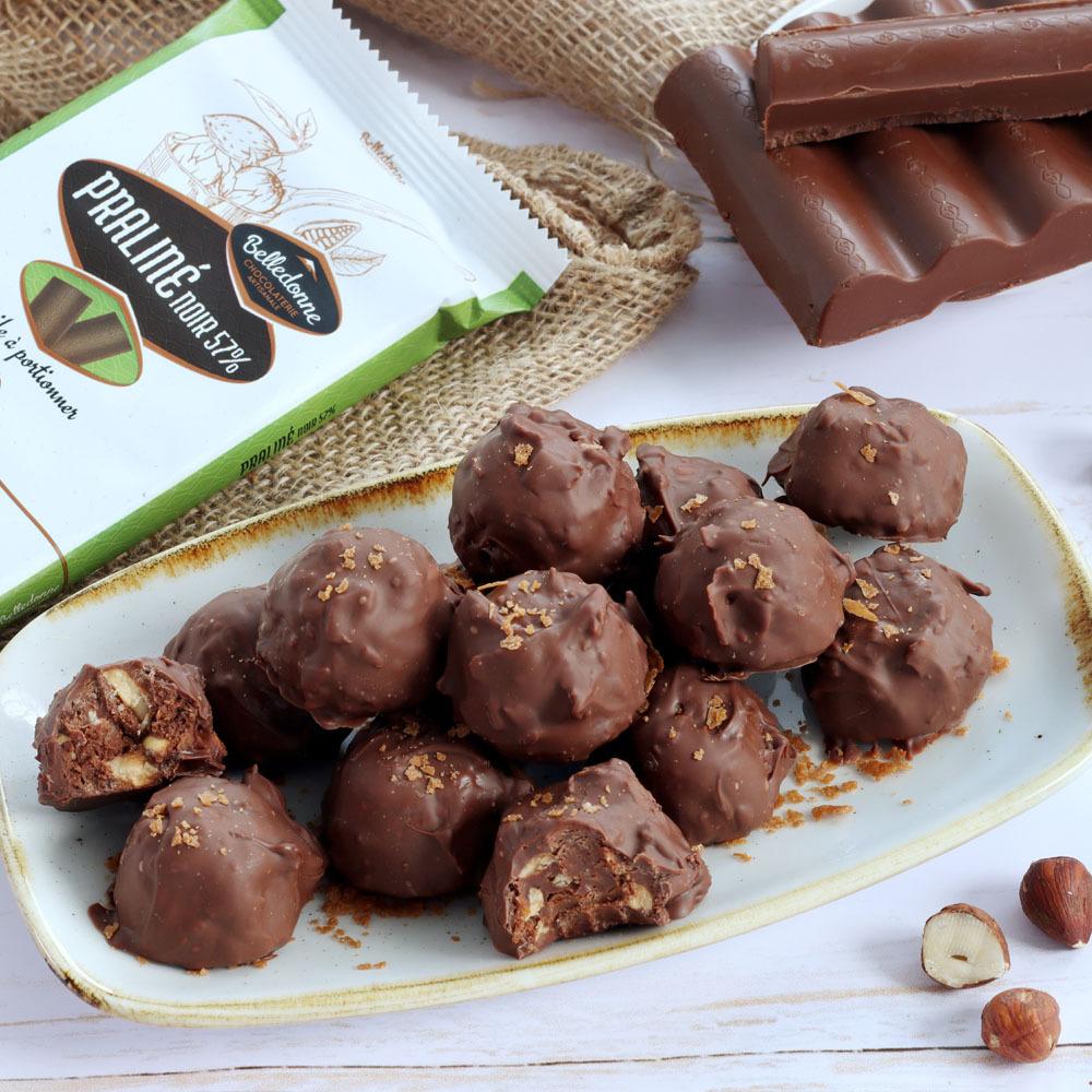 Rochers Au Chocolat Noir Praliné