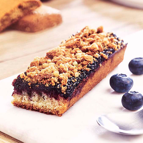 Recette Crumb Cake Myrtille Biscuit Petit Epeautre Miel